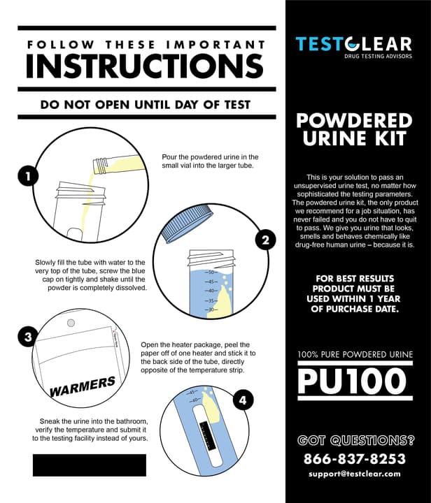 how to use fake pee powder